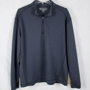Charcoal Pebble Beach Performance Zipper Pullover